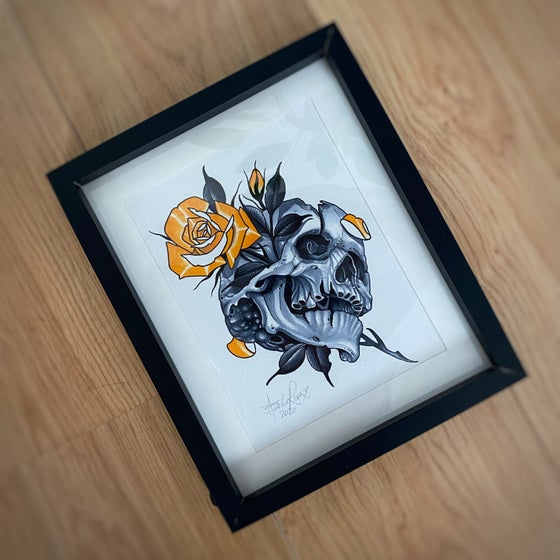Image of A5 SKULL/ROSE - *ORIGINAL*