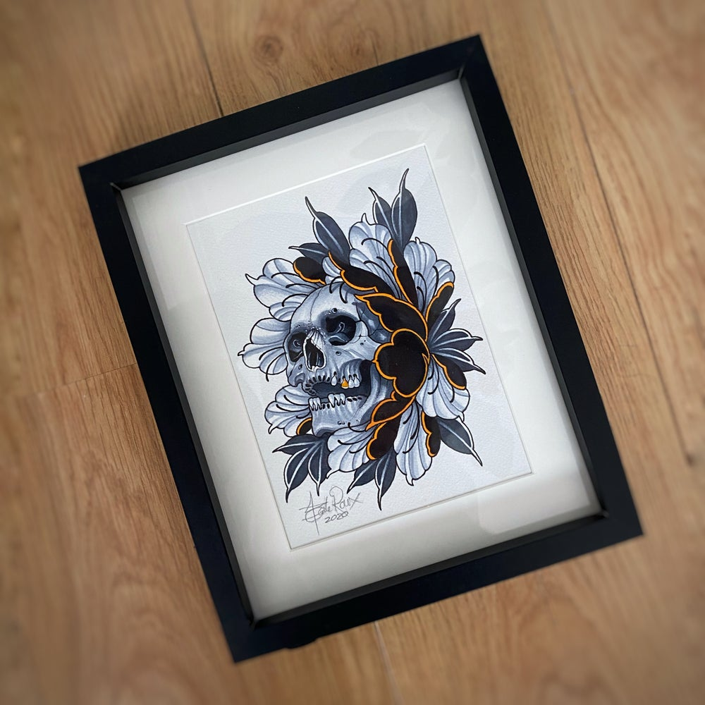 Image of A5 SKULL/PEONIE - *ORIGINAL*