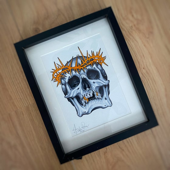 Image of A5 SKULL/THORNS - *ORIGINAL*