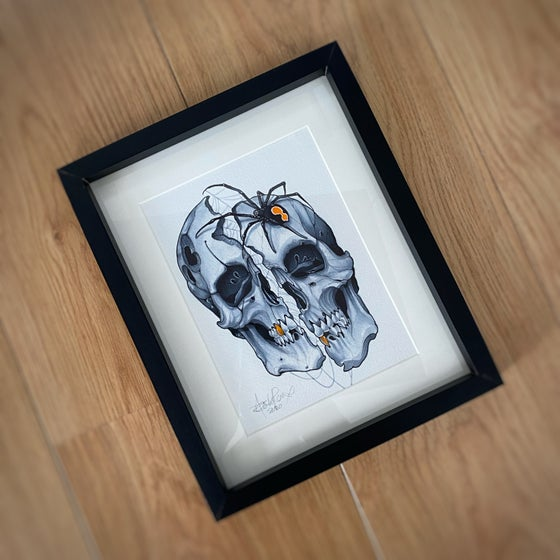 Image of A5 SPLIT SKULL - *ORIGINAL*