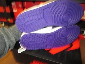 """Image of Air Jordan I (1) Retro High OG """"Court Purple/White"""""""
