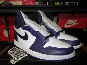 "Image of Air Jordan I (1) Retro High OG ""Court Purple/White"""