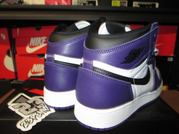 "Air Jordan I (1) Retro High OG ""Court Purple/White"" GS - areaGS - KIDS SIZE ONLY"