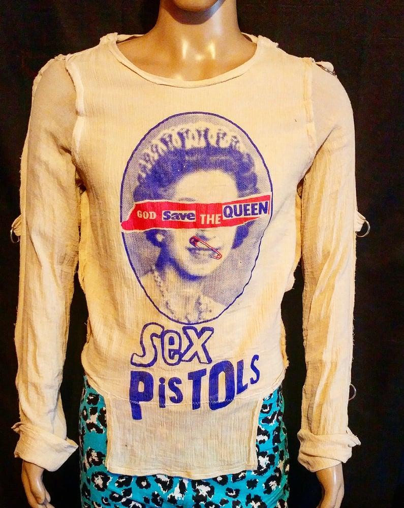 Image of God Save The Queen Sex Pistols classic bondage shirt