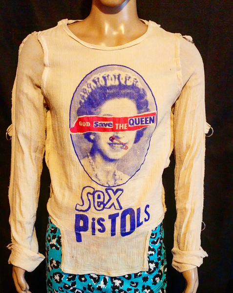Image of God Save The Queen Sex Pistols classic bondage shirt