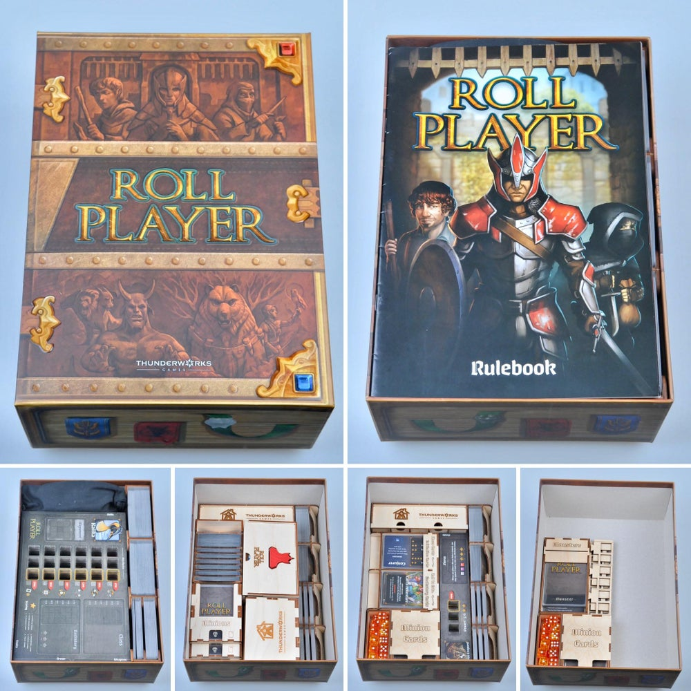 ROLL PLAYER GUILD HALL EXPANSION ORGANIZER + MONSTERS AND  MINIONS CARD TRAY