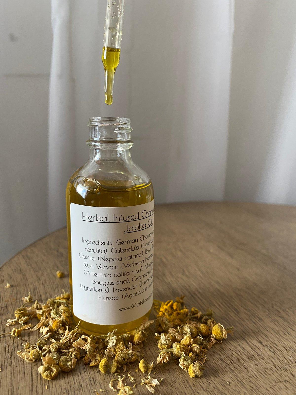 Herbal Infused Organic Golden Jojoba Oil