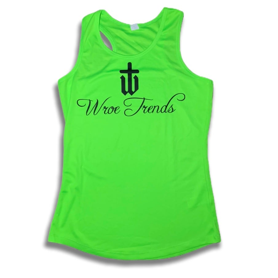 Image of LADIES NEON GYM VEST