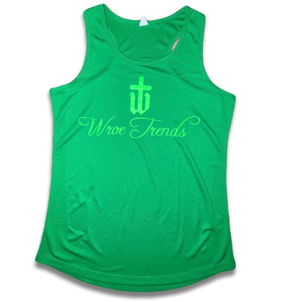 Image of LADIES GREEN/NEON GYM VEST