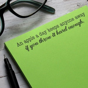 An apple a day keeps anyone away if you throw it hard enough - Notepad