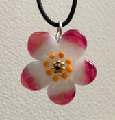 Image of Glass flower pendant