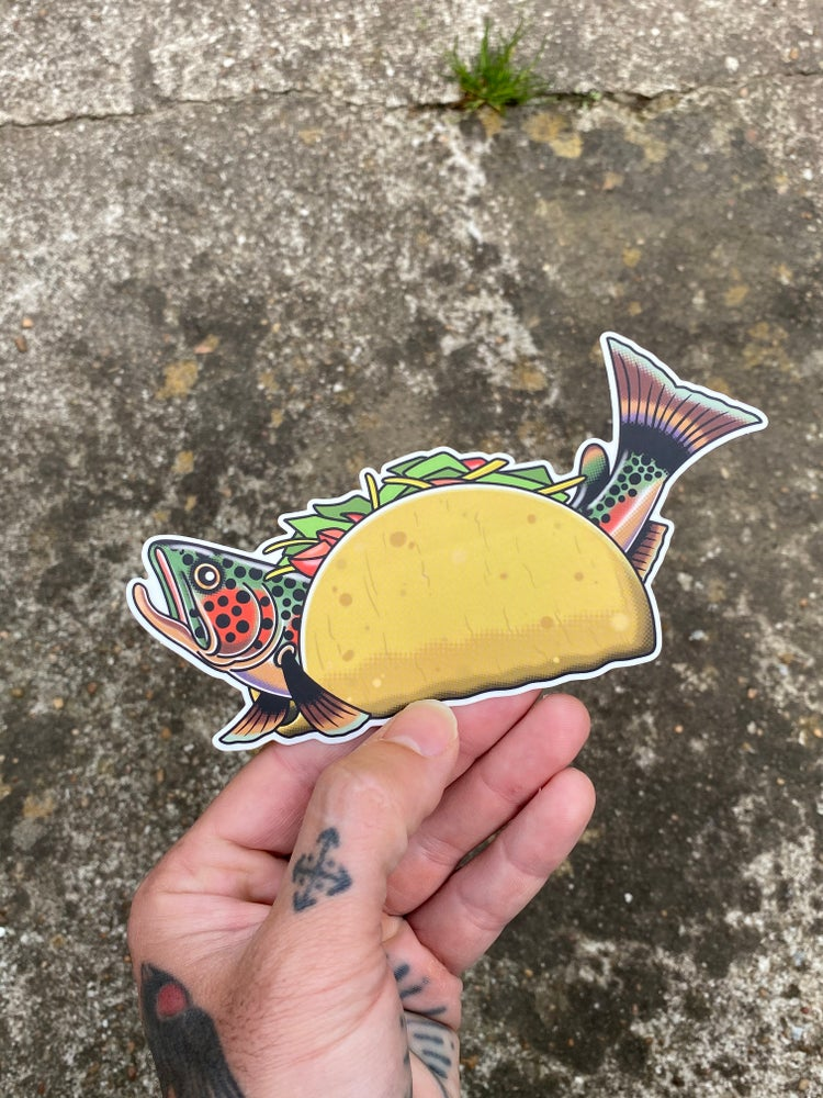 Image of Fish Taco Sticker