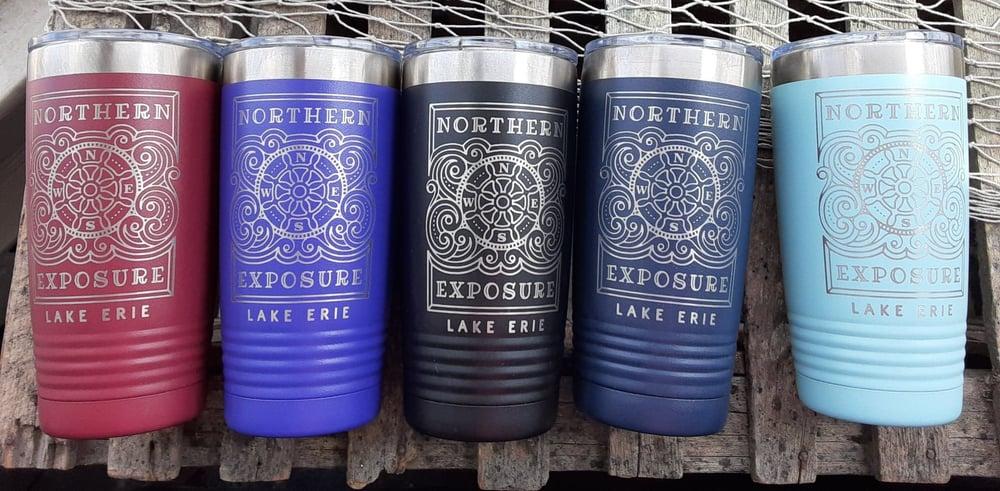 "Image of ""NORTHERN EXPOSURE- LAKE ERIE"" insulated Tumbler- Northern Exposure- IK"
