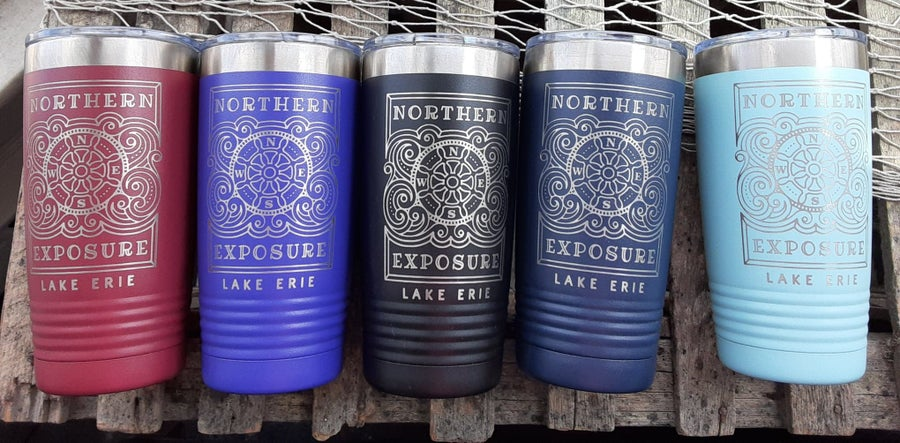 "Image of ""NORTHERN EXPOSURE- LAKE ERIE"" insulated Tumbler- Northern Exposure- IK"
