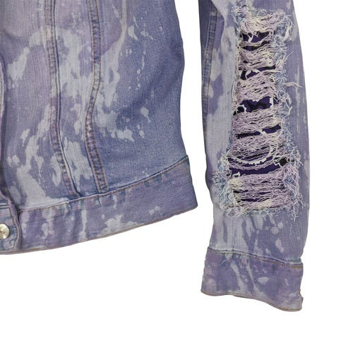 Image of Prince Purple Rain Tribute Customized Women's Denim Jacket