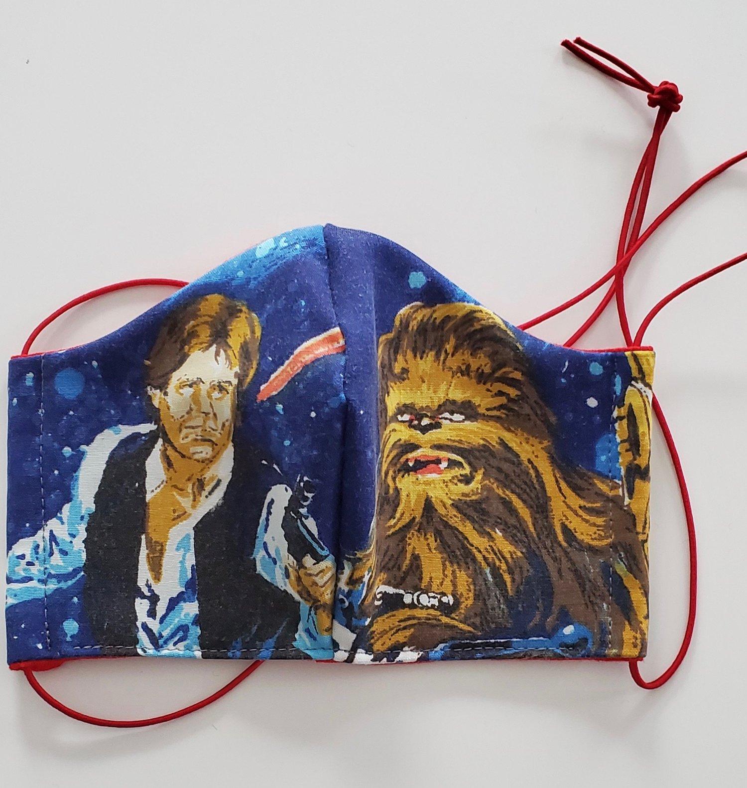 Image of EDIT- Repurposed Star Wars 1977 Bedsheet & Jersey Fabric Facemasks