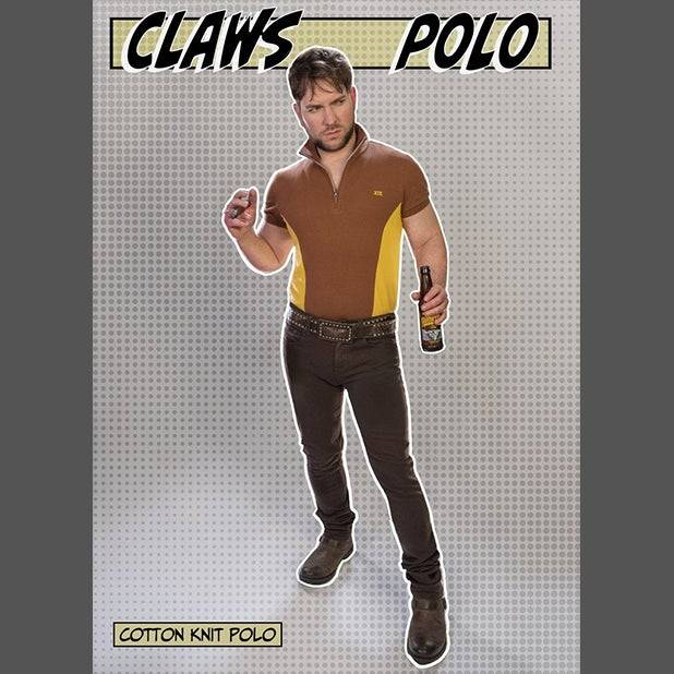 Image of CLAWS COTTON KNIT POLO