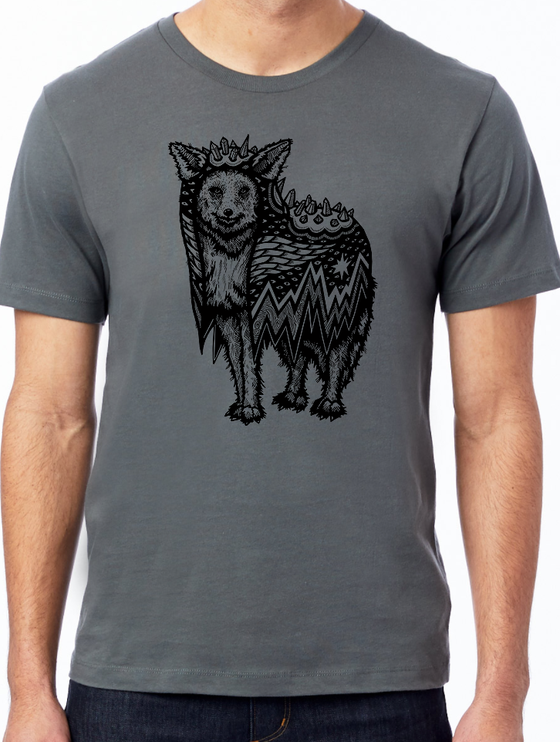 Image of Coyote in a Crystal Cloak Tee