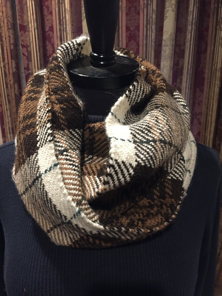 Image of Handwoven (Small) Alpaca Plaid Cowl (#2015)
