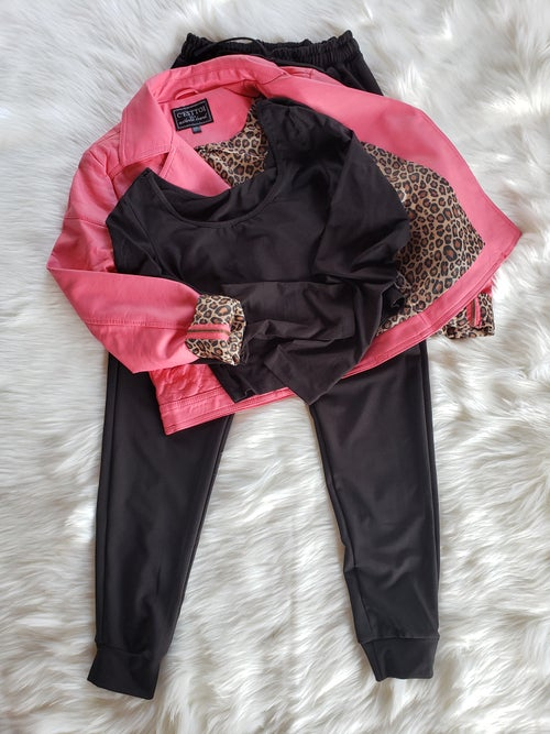 Image of Black Jogger Set