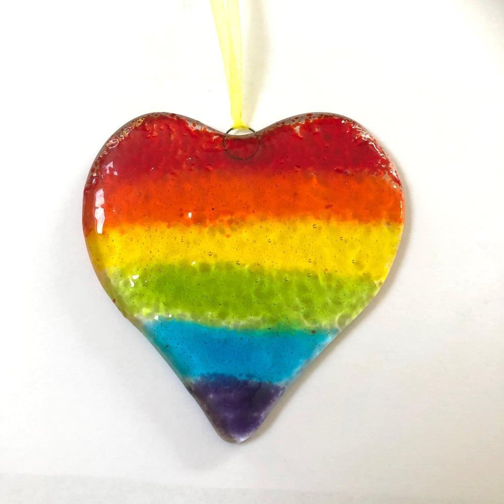 Image of Large rainbow heart