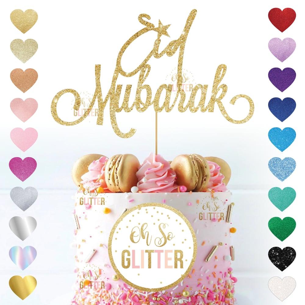 Image of Eid Mubarak - Glitter Cake Topper