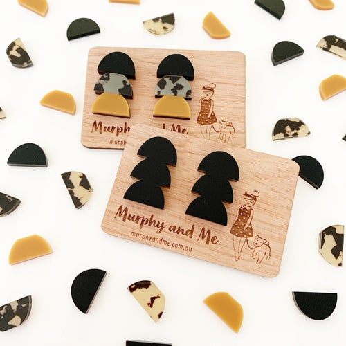 Image of Stacked Autumn Trio Studs