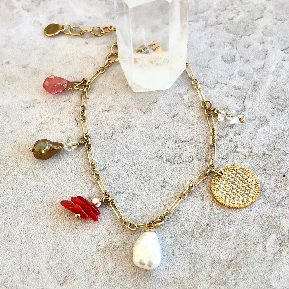 Image of Sparkle Charm Bracelet