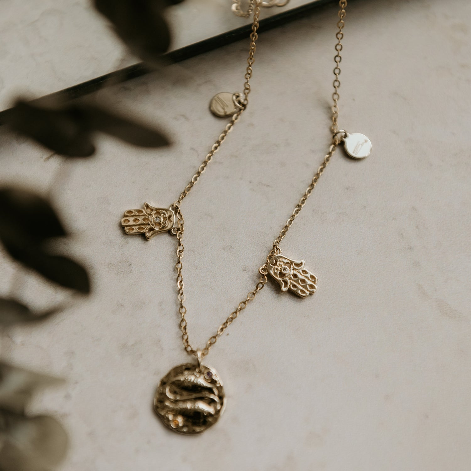 Image of Starsign & Fatimas Hand Necklace