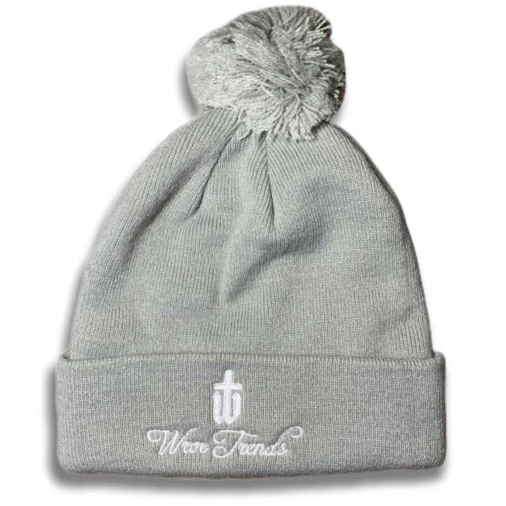 Image of GREY BOBBLE HAT