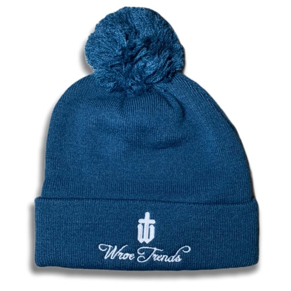 Image of PETROL BLUE BOBBLE HAT