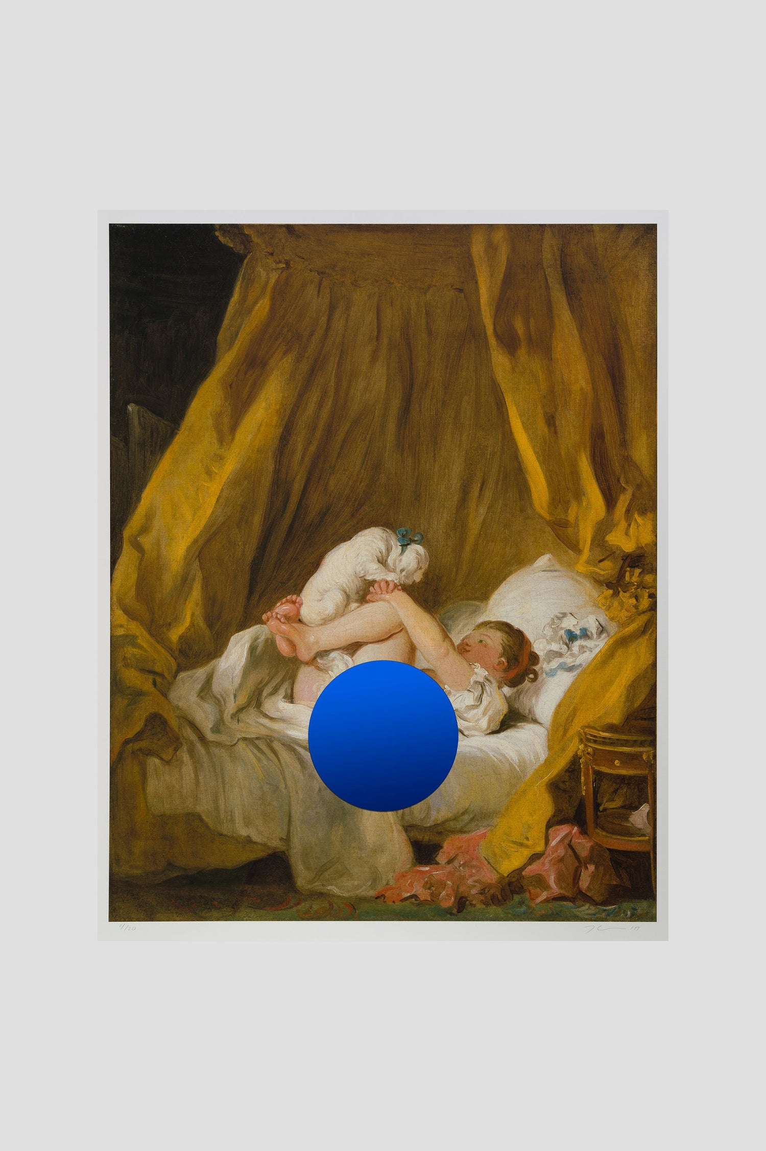 Image of Jeff Koons - Gazing Ball (Fragonard Girl with Dog)