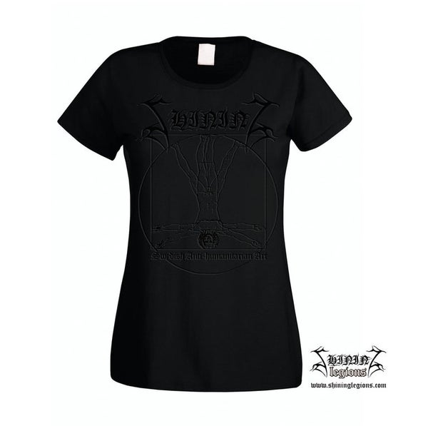 "Image of Shining ""Swedish Antihumanitarian Art"" BlackOnBlack Girlie Shirt"