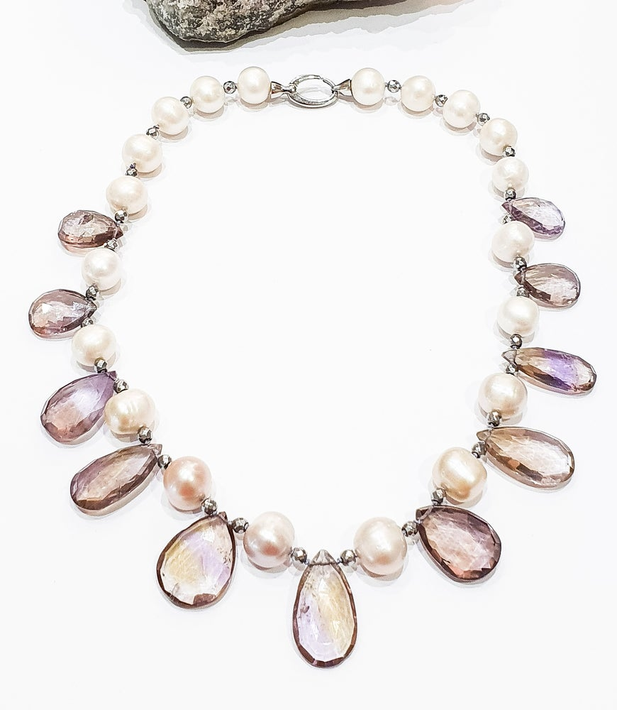 Image of Ametrine and Freshwater Pearl Necklace