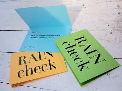 Image of Rain Check cards