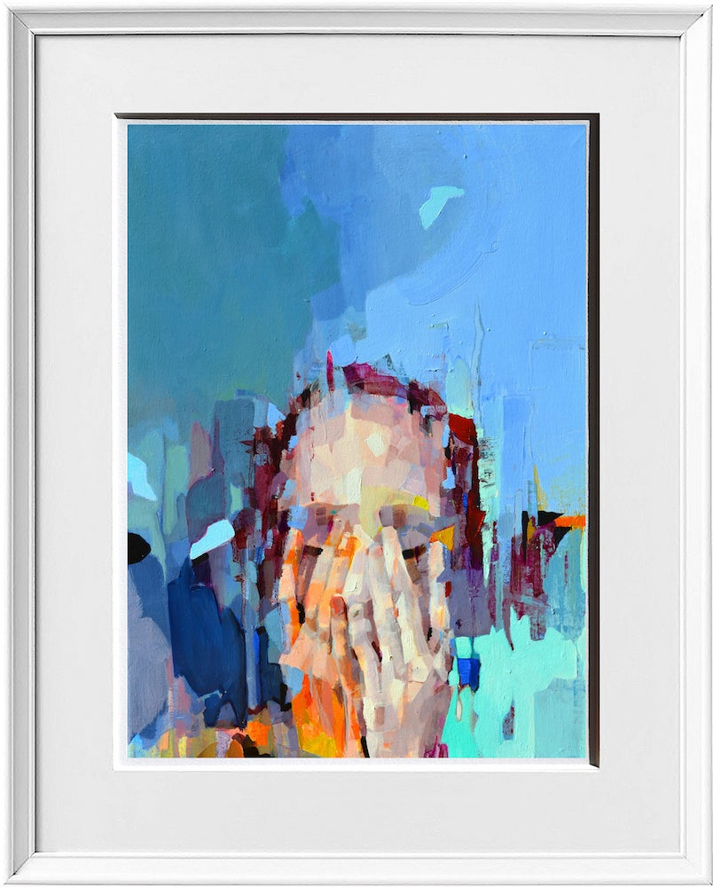 Image of When Silence happens in the marketplace - Framed Limited Edition Giclee Print