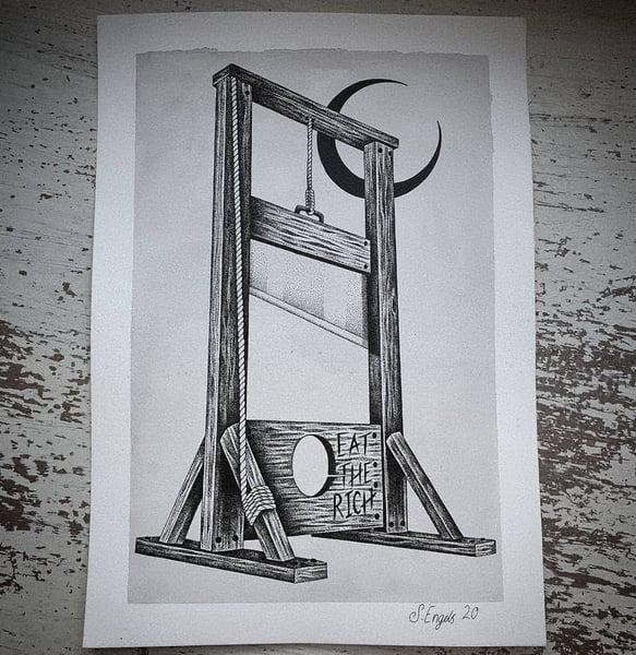 Image of Guillotine print