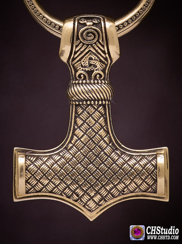 Thor's Hammer : MJOLNIR Leather Necklace (Mammen 2)