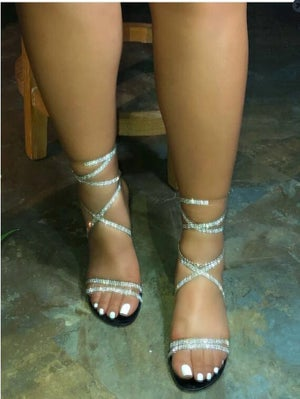 "Image of ""Strap Up"" Bling Ankle Strap Sandals"