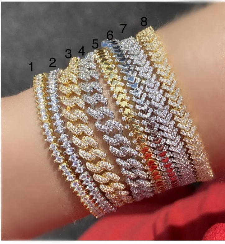 Image of Stacked Diamond bracelets 1-8