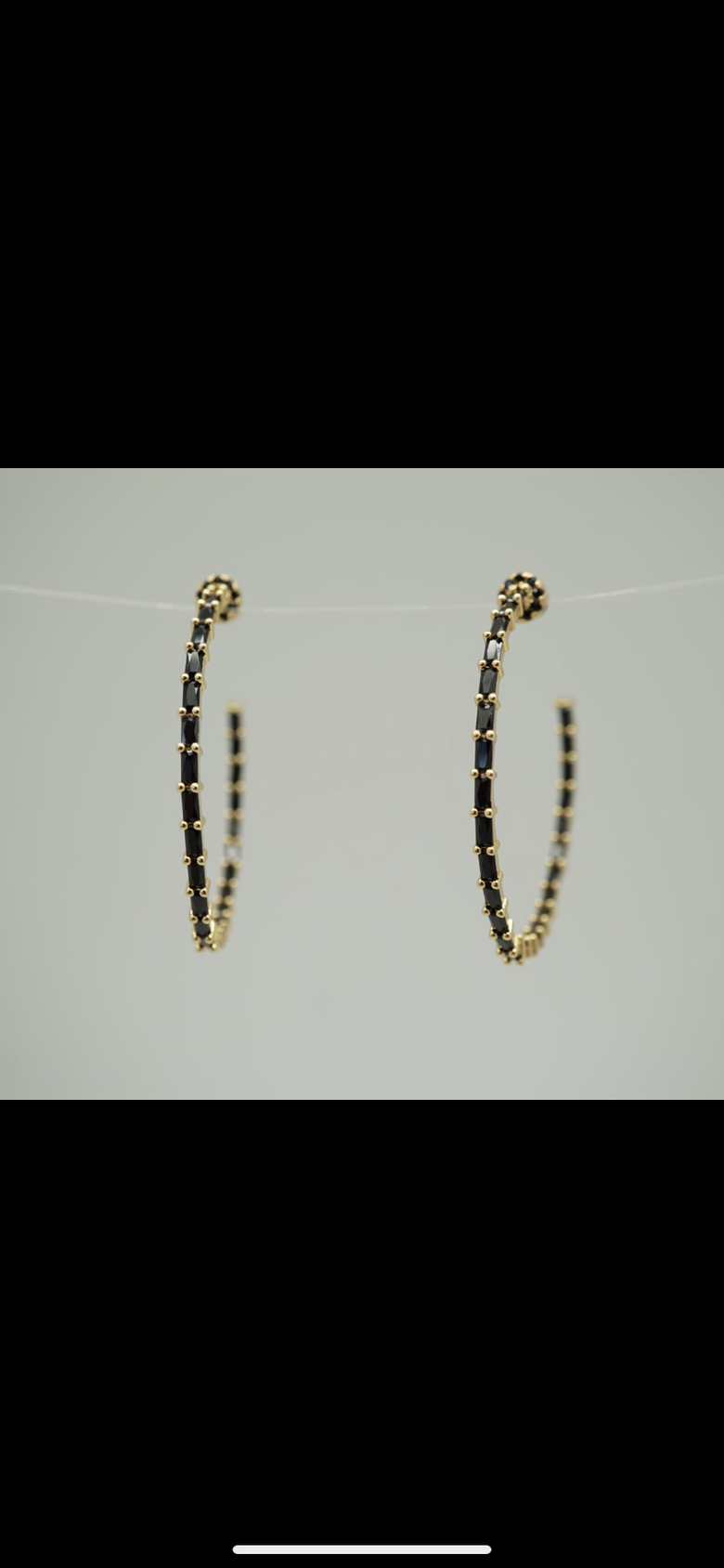 Image of Black Diamond Hoops