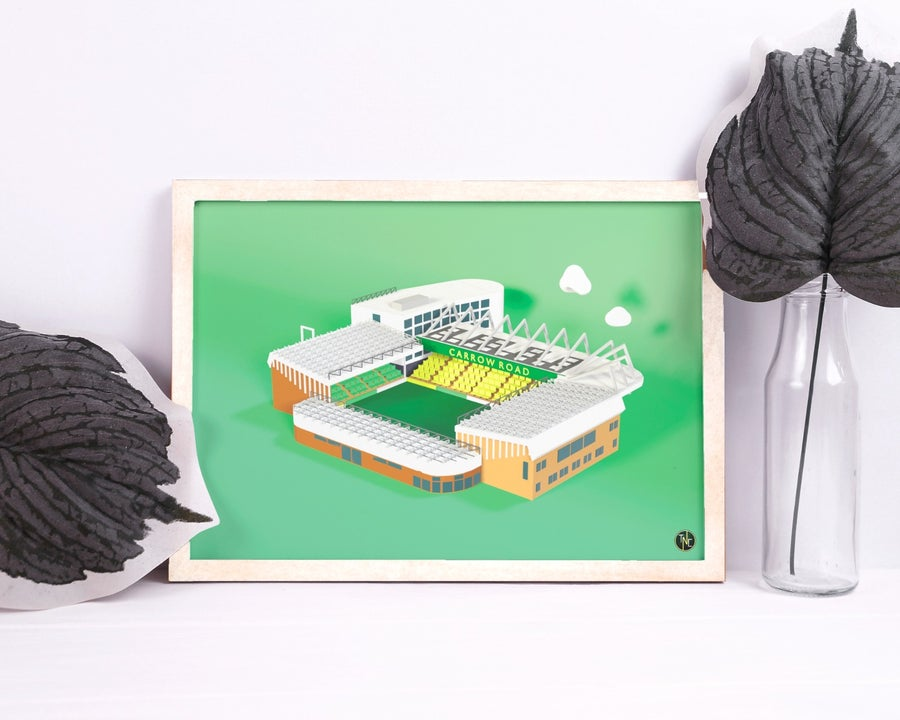 Image of Carrow Road - A4 Poster - Limited Edition