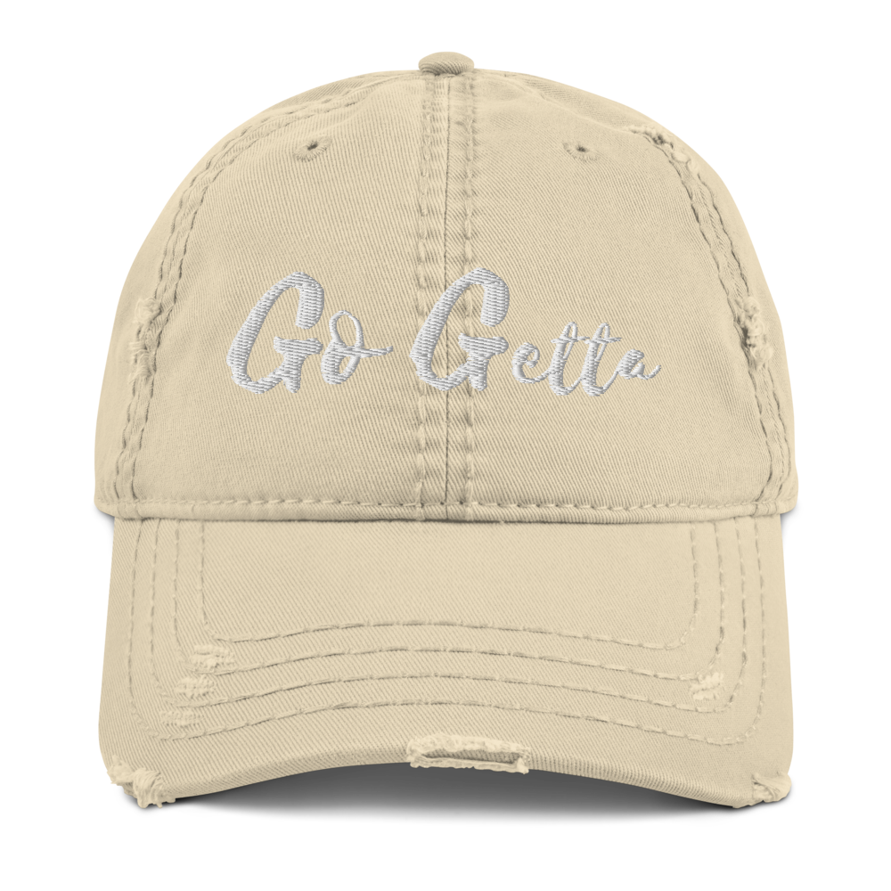 "Image of The ""Go Getta State Of Mind"" Distressed Dad Cap"