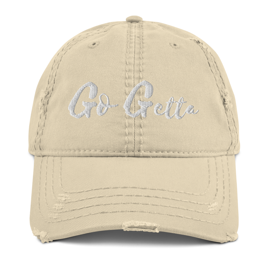 """Image of The """"Go Getta State Of Mind"""" Distressed Dad Cap"""