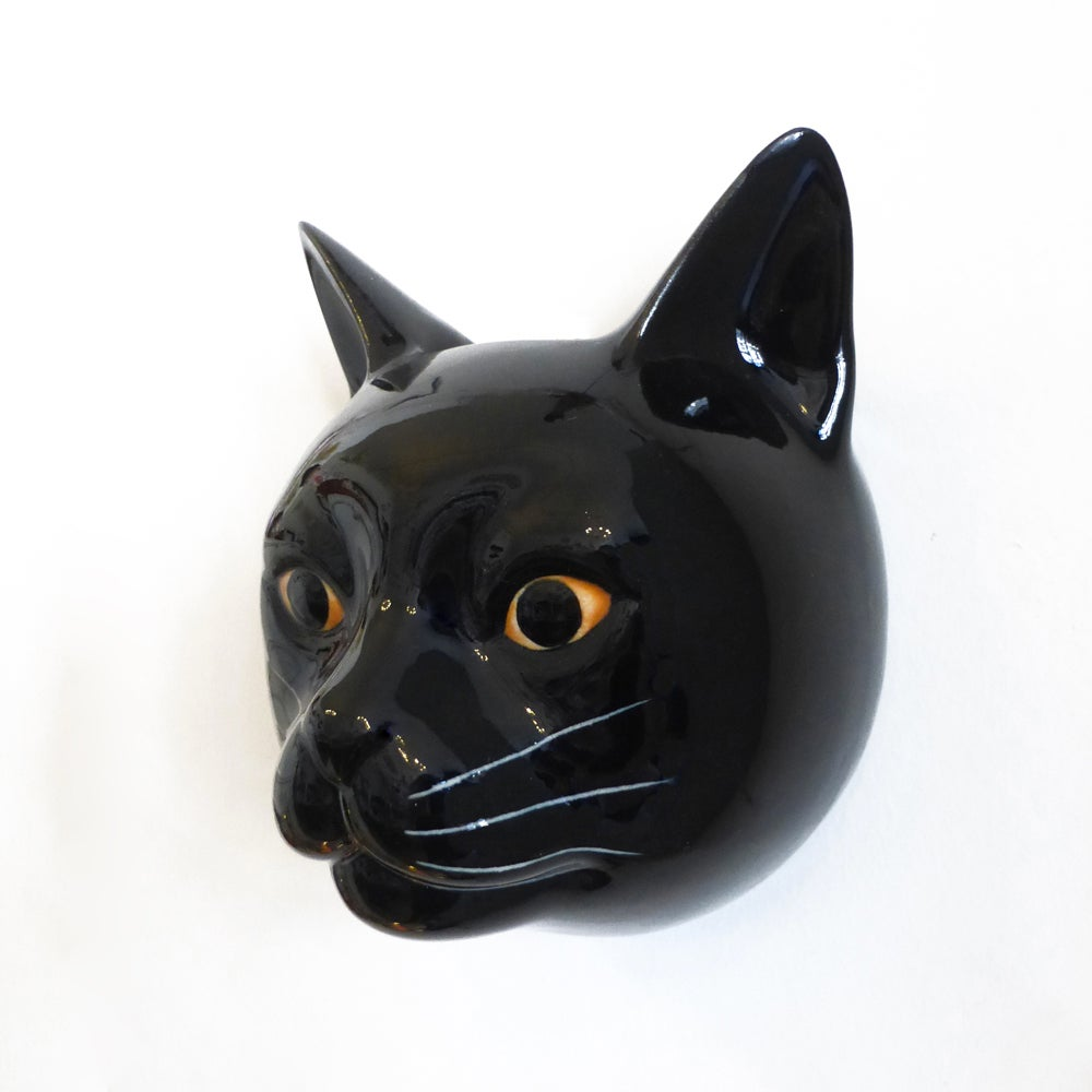Image of Black Cat Wall Vase