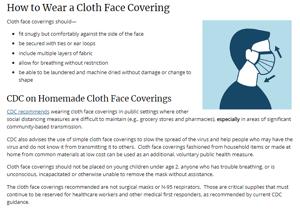 Adult face masks