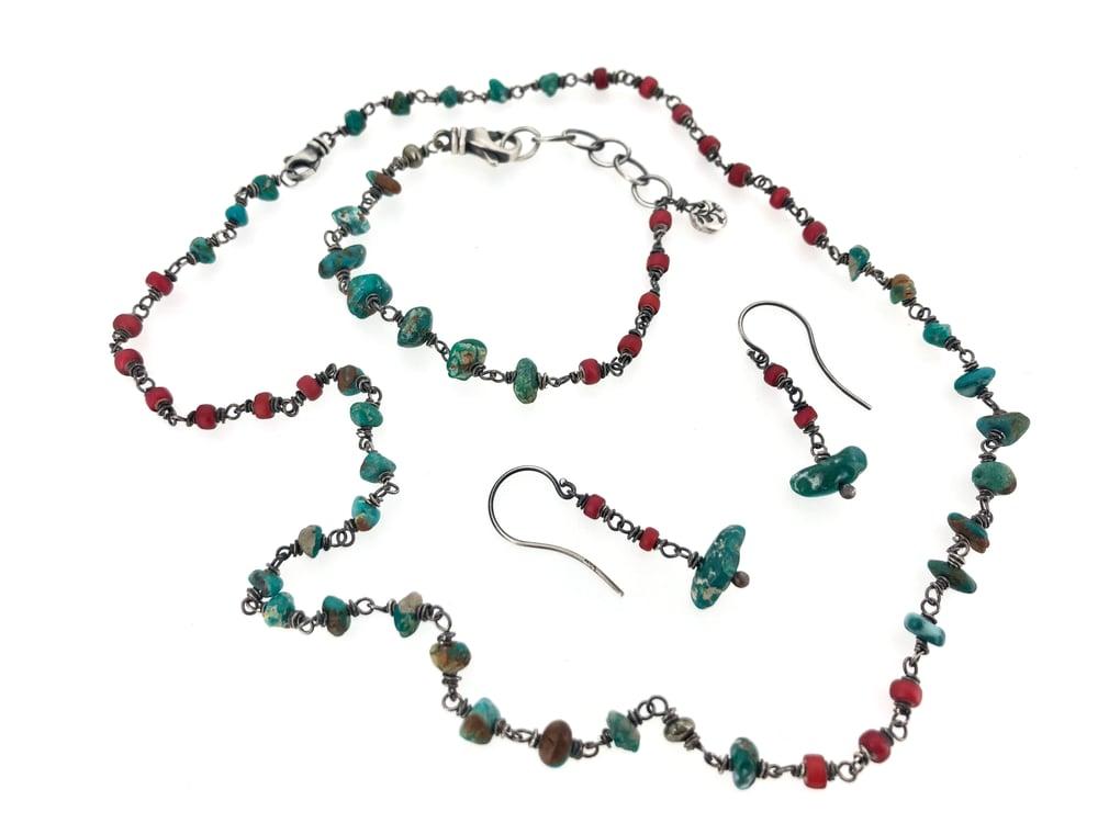 Image of Fox mine turquoise earrings