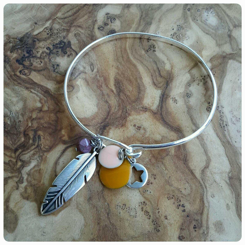 Image of Bracelet plume étoile