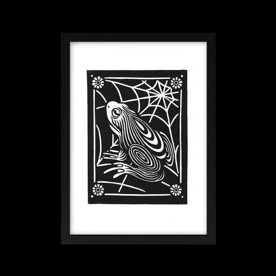 Image of Omens (Frog) Lino Print