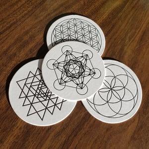 Sacred Geometry Letterpress Coasters - Set of 8 (2 of each design)